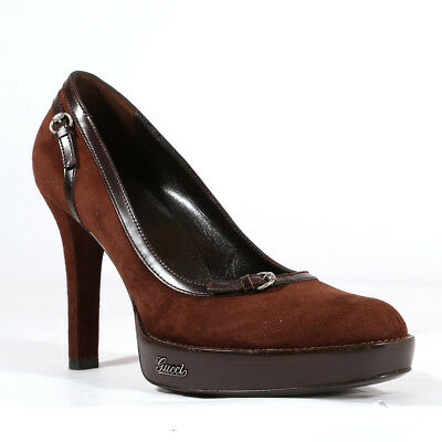 7a3f6cd974f Gucci Womens Shoes Brown Suede Pumps 182512 (GGW1549)