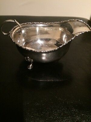 Solid Silver Sauce Boat Mappin And Webb