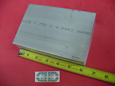 "1-3/4"" X 4"" ALUMINUM 6061 FLAT BAR 6"" long Solid Plate Mill Stock 1.75"" x 4.00"""