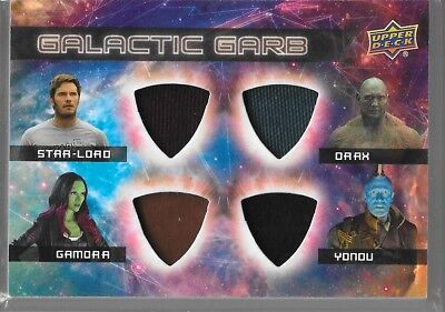 UD Guardians of the Galaxy Vol 2 Galactic Garb Quad Star Gamora Drax Yondu QM-10