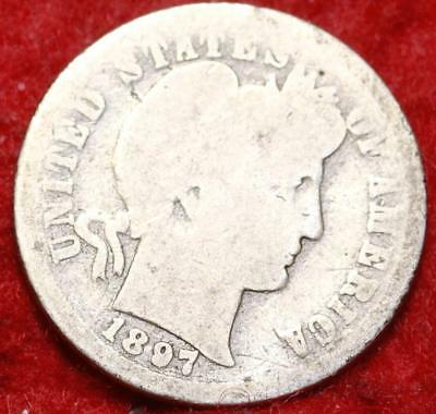 1897-O New Orleans Mint Silver Barber Dime