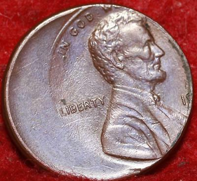 No Date Off Center Error Lincoln Cent