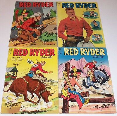 RED RYDER Comics run of FOUR! No.'s 106 - 109. Dell Comics 1952. Little Beaver!