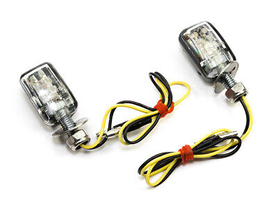 WINKER LIGHT PAIR LED Mini Brick Black Enduro for Husqvarna KTM MZ Yamaha Honda