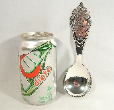 Large HAND MADE antique Danish 1919 Sterling Silver Serving Spoon 62.8 g Denmark