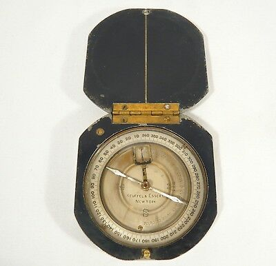 Antique Keuffel & Esser Co New York COMPASS Metal Pocket Surveyor
