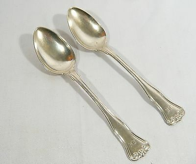 2 Antique Solid SILVER Spoons 1842 BRAHMFELD & GUTRUF Hamburg Germany B&G  94 gr