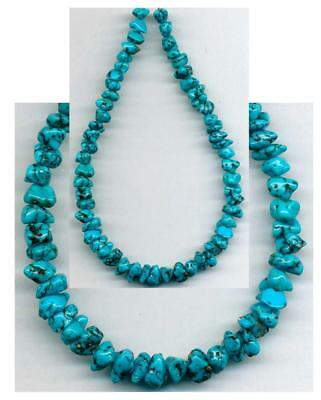 TURQUOISE  CAMPITOS Mine BEADS~Deep Blue, Black Natural Color 5-7mm Tucson 2018