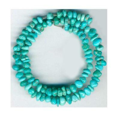 Turquoise Beads White Water Mine Mexico 3-4mm Campitos Mine Area
