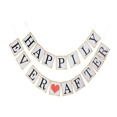 HAPPILY EVER AFTER Letter  Party Decor Photo Prop Banner Set 17 in 1