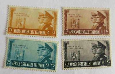 Italian East Africa 1941 Rome Berlin Axis small collection unused