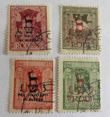 Italy Rhodes 1944 small collection used