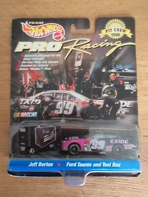 Hot Wheels Pro Racing Jeff Burton 1998 Pit Crew Car 99 NASCAR 1 64