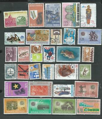 Indonesia lot 2  nice page of stamps, good range of items [2156]