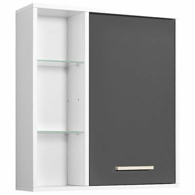 badezimmerm bel spiegelschrank anthrazit 68x71x20cm badspiegel badezimmerspiegel eur 125 90. Black Bedroom Furniture Sets. Home Design Ideas
