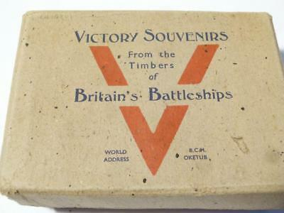WW2 - VICTORY Souvenirs Miniature Barrels Made from Timber Famous Battleships