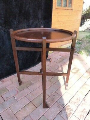 """Lovely Vintage Art Deco Fold Away Circular Occasional Card Table By """"revertable"""""""