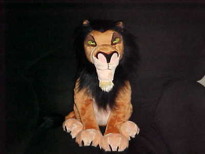 """18"""" Scar Plush Stuffed Toy The Lion King The Disney Store Stitch Patch On Foot"""