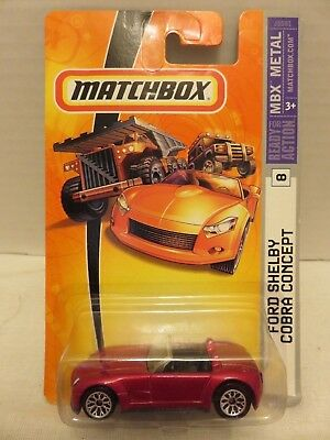 2007 Matchbox Ford Shelby Cobra Concept Red #8 MBX Metal Die-Cast Metal Car