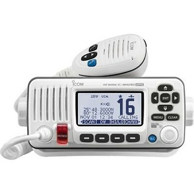 Icom M424G 22  M424G White Vhf Radio Class D Dsc Built-In Gps