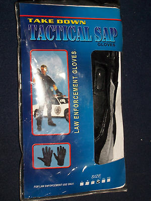 Official Leather Law Enforcement Tactical Real Weighted Sap Gloves X-Large