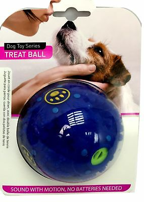 85mm Plastic Dog Toy Treat Ball Kong Sound Activity Training Fetch Play Reward