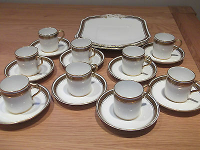 Coffee And Cake Plate Set By Hancock's China For Nine