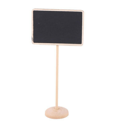 Household Wood Rectangle DIY Decor Message Standing Table Number Blackboard