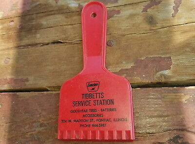 Old Tibbetts Sinclair Gas Station & Goodyear Tires Ice Scraper Pontiac Illinois