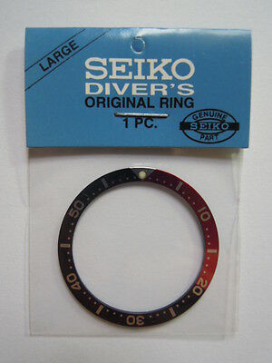 New Seiko Large Pepsi Bezel Insert For Seiko Diver's 7S26 / 6309 /  6105 / 7002