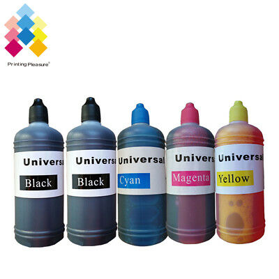 5x 100ml Epson Printer Refill Ink Bottles for CISS or Refillable Cartridges