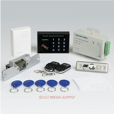 New RFID Access Control System Kit Set With Door Strike Lock+ 2Remote Controls