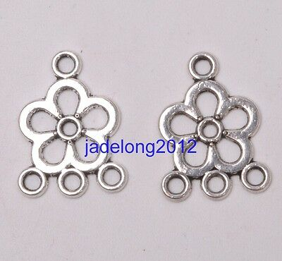 50pcs Tibetan Silver Earring Connectors Findings charms Connector A0114