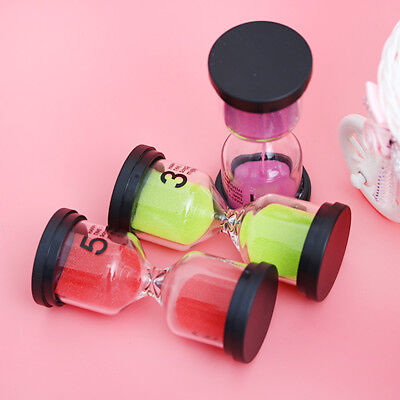 1/3/5 minutes Plastic Hourglass Colorful Sand Hourglass Toothbrush Shower Timer