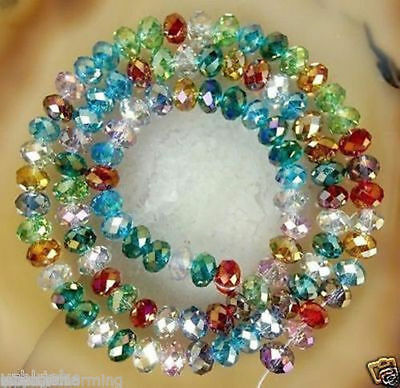 500PCS 4*6MM Wholesale Faceted Crystal Gemstone Loose Beads Multicolor