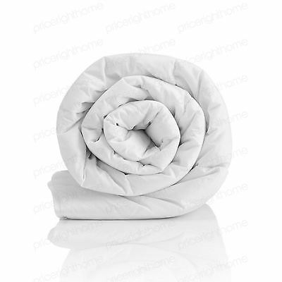 Hollowfibre 10.5 Tog Single Duvet Polycotton Casing Channel Stitched New Bedding