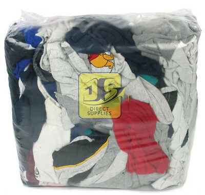 100% COTTON 10kg General Purpose Graded Bag of Rags - Cleaning - Wiping - Wipes