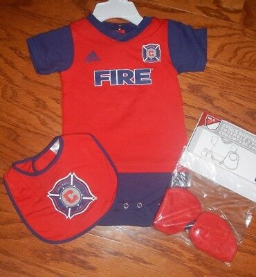 abf8d251c Chicago Fire Newborn Infant Jersey Bib   Bootie Set add any name   Number