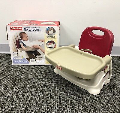 Fisher Price Healthy Care Deluxe Booster Seat Chair with Feeding Tray