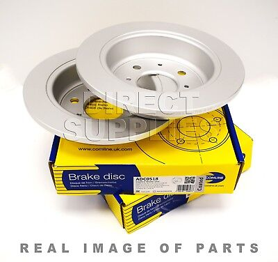2 X Rear  Brake Discs For Honda - Mg - Fit Nissan - Rover 200 Comline Adc0518