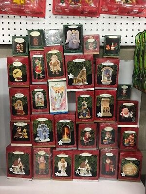 Huge Lot Of 30 Hallmark Keepsake Ornaments. All Are New In Box And Never Used