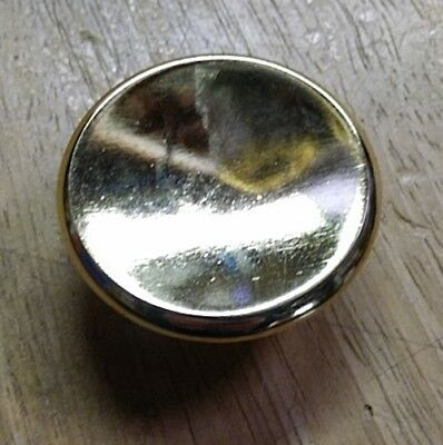 """Mid Century Modern Cabinet Hardware Contemporary Bright Polished Brass 1 3/4"""""""
