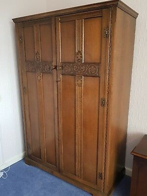 Heathland wardrobe solid wood 1940 era