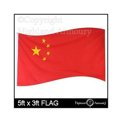 5' x 3' FLAG CHINA CHINESE NATIONAL Flags Large 150 x 90cm Asia Red