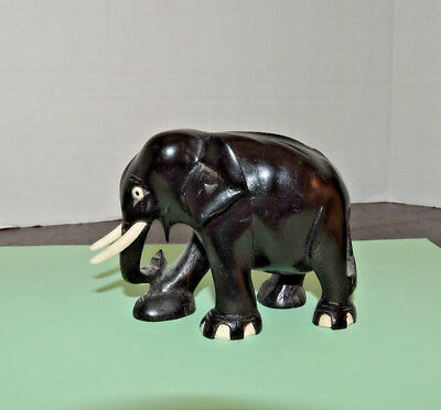 Carved Wooden Elephant - possibly Ebony wood ?