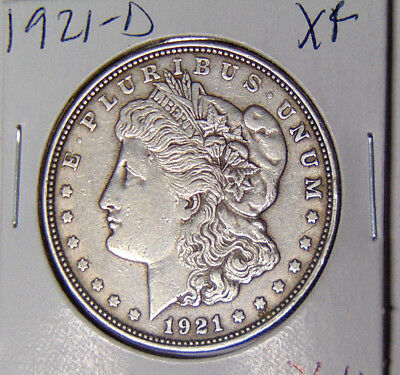 1921-D Morgan Silver Dollar XF Only Year Denver Minted Morgans A One year Type