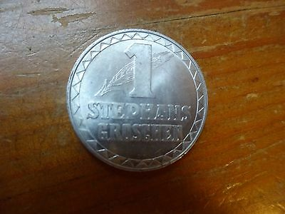 Austria 1950 Saint Stephan's Groschen Aluminium Church Token