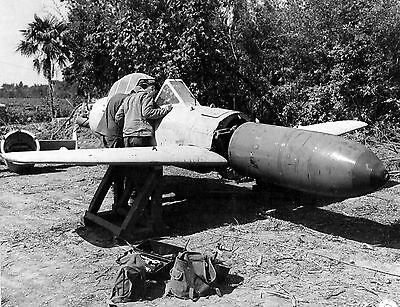 WWII B&W Photo Japanese MXY7 Ohka Suicide Bomber World War Two WW2 Japan / 6111