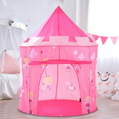 Pink Princess Castle Kids Girl Play Tent Pop-up Fairy Playhouse Indoor Outdoor  sc 1 st  PicClick & NEW Princess Castle Fairy Kids Tent Sonyabecca Girls Pop Up Pink ...