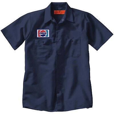 PEPSI Custom Delivery Man WORK SHIRT w Vintage Embroidered Patch Soda Pop Cola 2